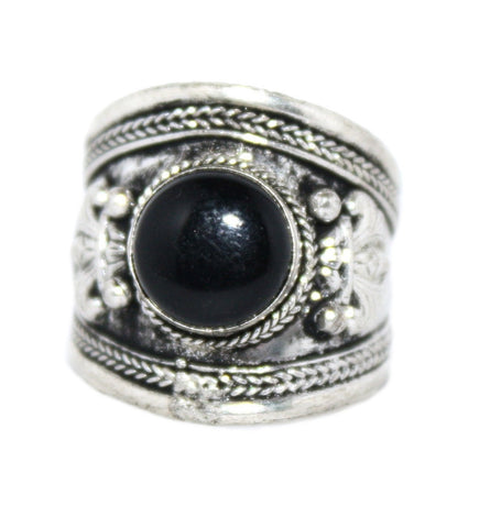 Adjustable Black Onyx Ring - Yaslai - 1