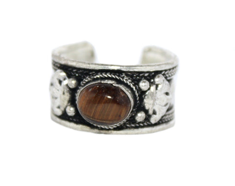 Adjustable Tiger Eye Ring - Yaslai - 1