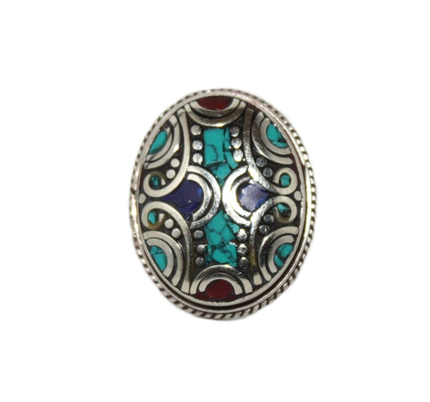 Adjustable turquoise ring - Yaslai - 1