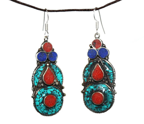Coral Dot Earrings - Yaslai - 1