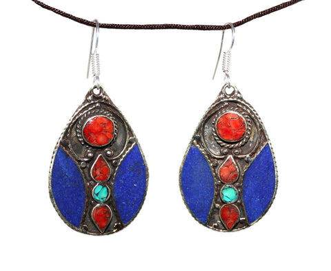 earring lapis turquoise earrings img wings products yaslai large coral