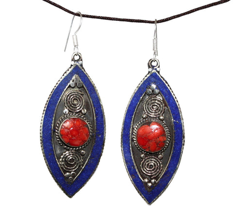 Lapis Coral Earrings - Yaslai - 1