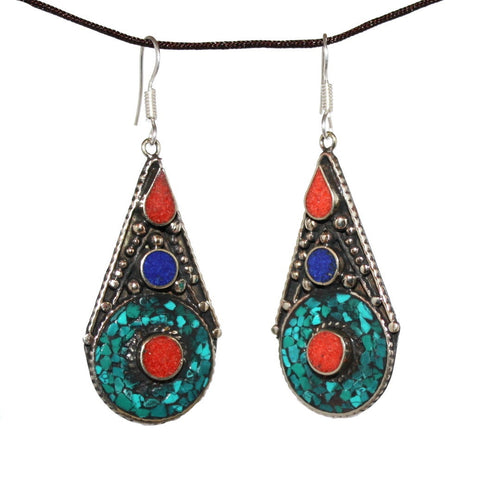 Iris Turquoise Earrings - Yaslai - 1