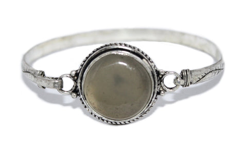 Quartz Bangle Quartz Bracelet Boho Bracelet Tribal Bracelet Silver Bracelet Tibetan Bangle BB218