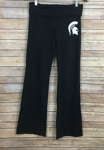 PINK Victoria's Secret MSU Spartans Yoga Pants (Size: M)
