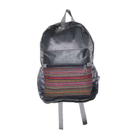 Gray Handmade backpack from Nepal - Yaslai - 1