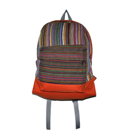 Multi-color Hand-woven backpack from Nepal - Yaslai - 1