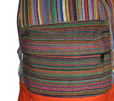 Multi-color Hand-woven backpack from Nepal - Yaslai - 3