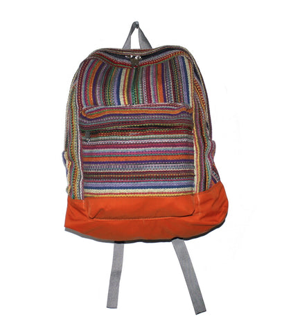 Multi-color Hand-woven Nepal Backpack - Yaslai - 1