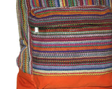 Multi-color Hand-woven Nepal Backpack - Yaslai - 3
