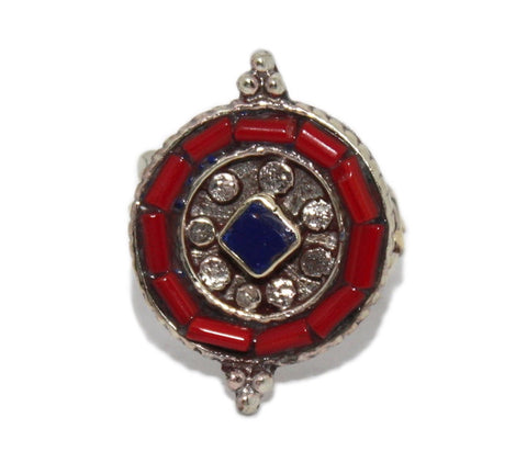 Coral Ring Lapis Ring Adjustable ring - Yaslai - 1