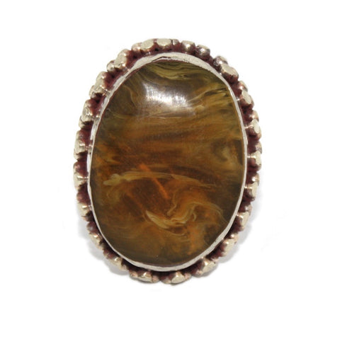 Pressed Amber ring - Yaslai - 1