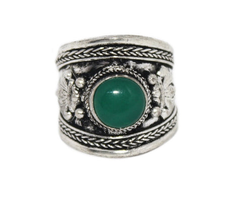 Green Quartz Ring, Adjustable Ring, yoga ring - Yaslai - 1