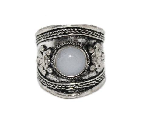 Moonstone Ring, Adjustable Ring, yoga ring - Yaslai - 1