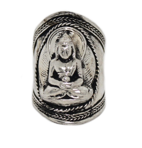 Mediation Buddha Ring, Adjustable yoga ring - Yaslai - 1