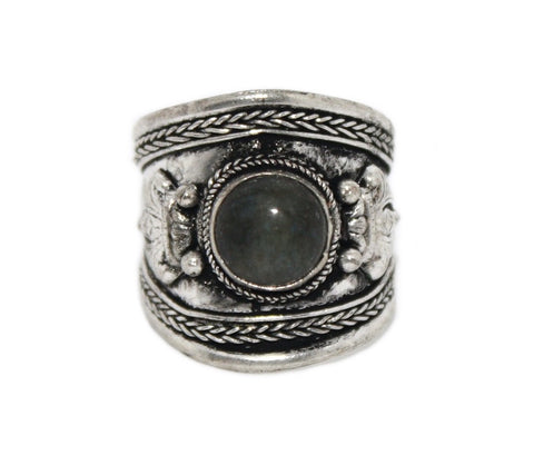 Labradorite Ring, Adjustable Ring, yoga ring - Yaslai - 1