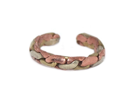 Copper Ring, Adjustable Ring, Yoga Healing ring - Yaslai - 1