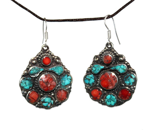 Coral turquoise Earring - Yaslai - 1