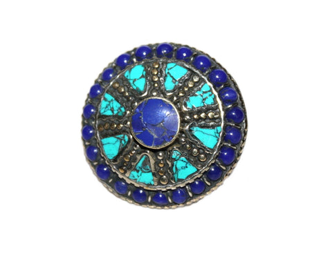 Adjustable Lapis turquoise Rings - Yaslai - 1