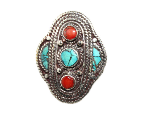 center Turquoise ring - Yaslai - 1