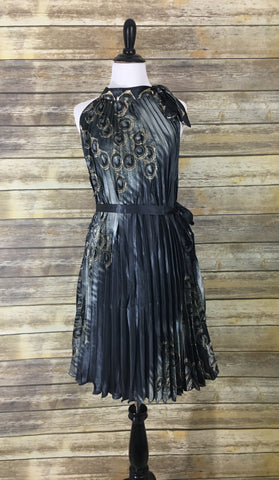 Gray pleated dress