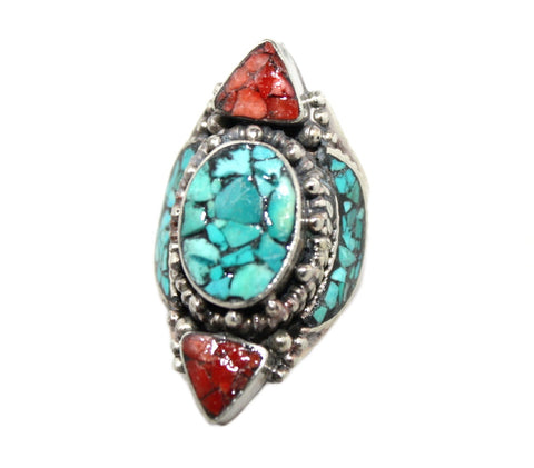 Oval turquoise ring - Yaslai - 1