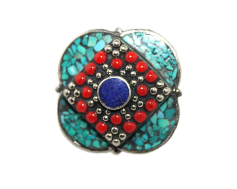 Square Coral ring - Yaslai - 1