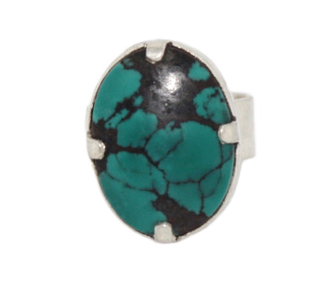 Turquoise Sterling Silver Ring - Yaslai - 1