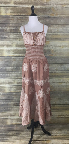 Beige tie dye maxi Dress