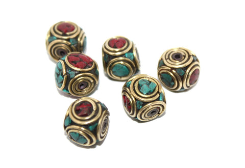 coral Turquoise Beads - Yaslai - 1