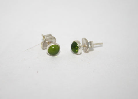 Sterling Silver Earrings, Stud Earring, lemon Quartz Earring - Yaslai - 1