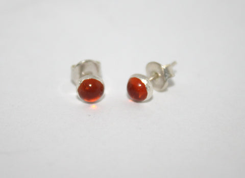 Sterling Silver Earrings, Stud Earring, Fire Quartz Earring - Yaslai - 1