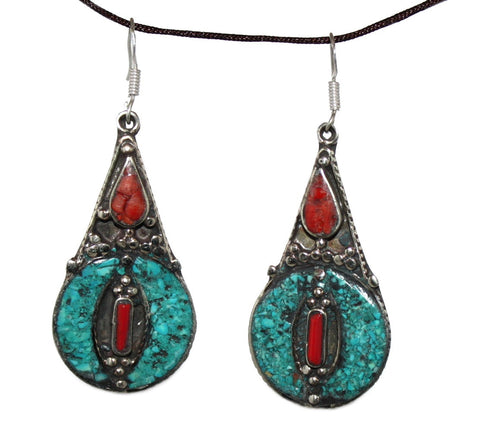 Turquoise coral Earring - Yaslai - 1