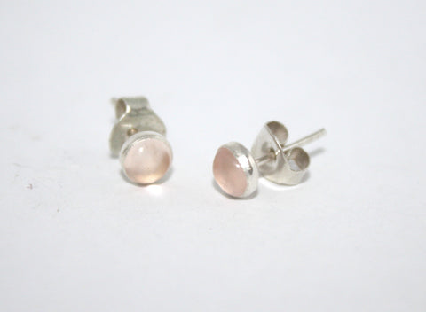 Sterling Silver Earrings, Stud Earrings, Quartz Earrings, Boho Earrings - Yaslai - 1