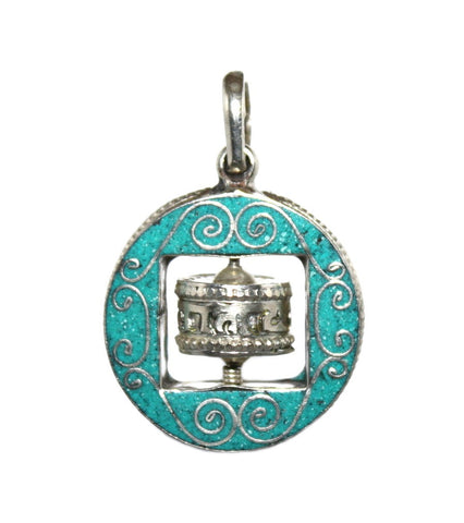 prayer wheel pendant - Yaslai - 1