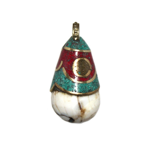 conch shell coral pendant - Yaslai - 1