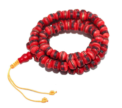 Yak Bone Prayer beads for yoga - Yaslai - 1
