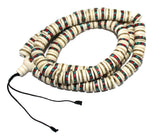 Flat round Yak Bone meditation prayer beads - Yaslai - 1