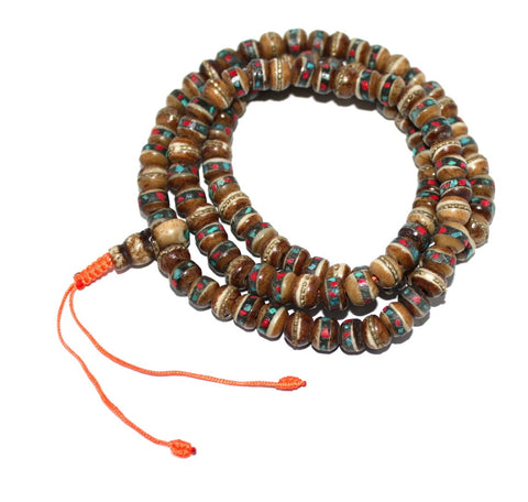 Brown Yak Bone meditation prayer beads - Yaslai - 1
