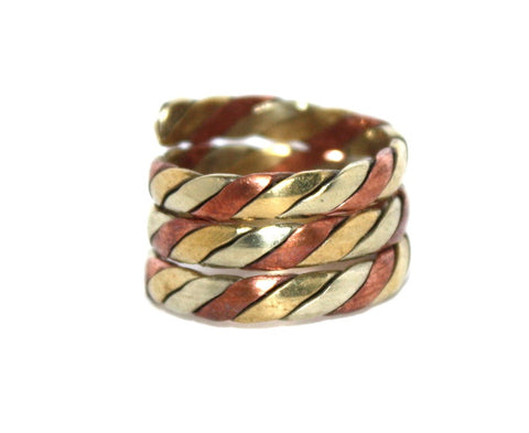 Adjustable  brass copper ring - Yaslai - 1