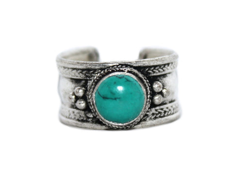 Turquoise Adjustable yoga ring - Yaslai - 1