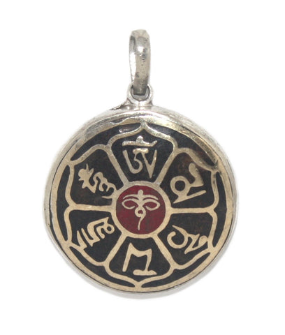 Eyes Of Compassion Knot Coral Onyx Pendant