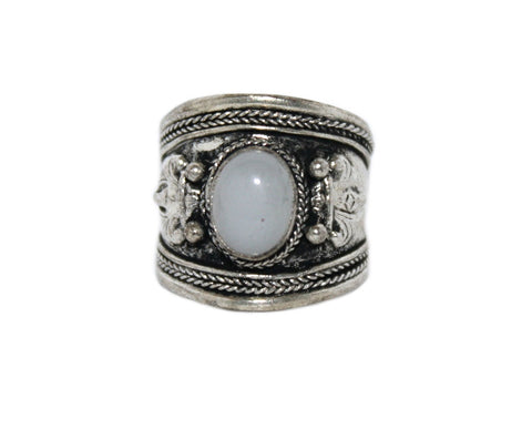 Moonstone Adjustable yoga healing ring - Yaslai - 1