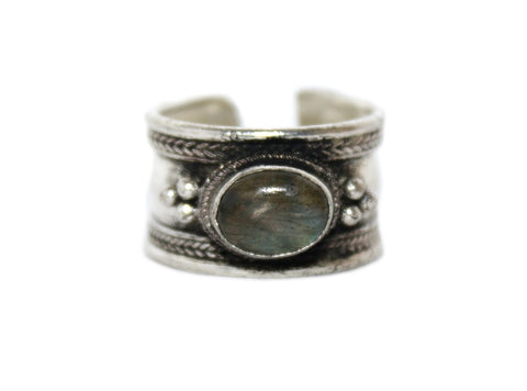 Labradorite Adjustable healing ring - Yaslai - 1