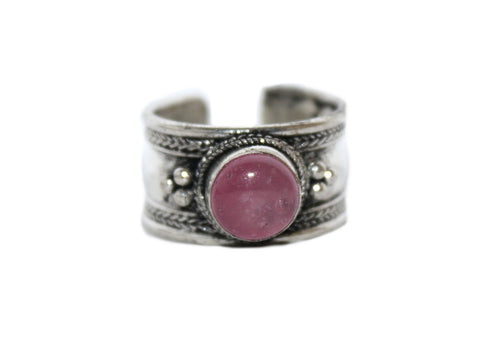 Rose quartz Adjustable healing ring - Yaslai - 1