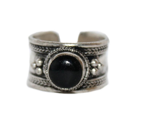 Onyx Adjustable healing ring - Yaslai - 1