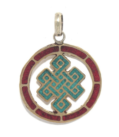 Endless Turquoise Coral Pendant - Yaslai - 1