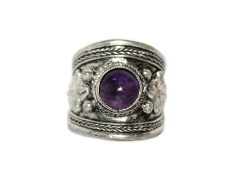 Yoga Adjustable Amethyst Ring - Yaslai - 1