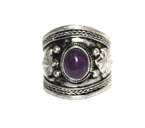 Adjustable Amethyst Ring - Yaslai - 1