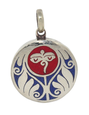 Eyes Of Compassion Coral Lapis Yoga Pendant - Yaslai - 1